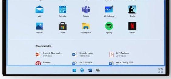 Windows 10X taskbar UI